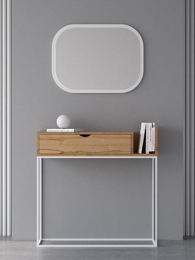 Espejo de pared Oval Lacado [1]