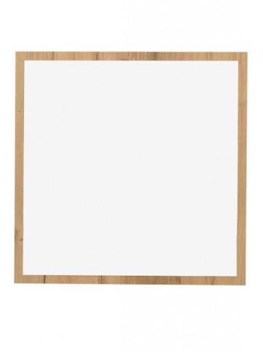 Espejo de pared cuadrado roble 1