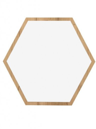 Espejo de pared Hexa roble 1