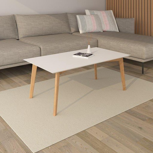 MESA DE CENTRO TOP BISEL PIE NORDIC BLANCO-ROBLE
