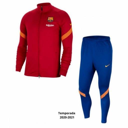 Chandal Barcelona Temporada 2020 2021 Granate azul CD6003-821