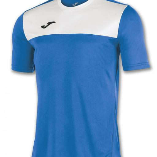 CAMISETA JOMA WINNER AZUL ROYAL BLANCO 100946.702