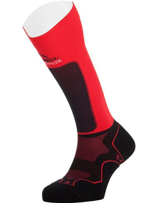 Calcetines compresión trail running Lurbel Trail Plus rojo - negro