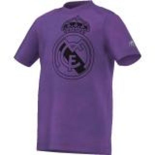 CAMISETA FANATICOS REAL MADRID NIÑO MORADA AY9641