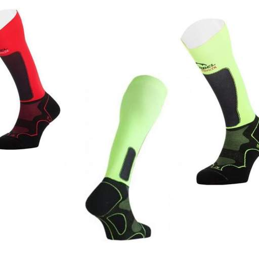 Calcetines compresión trail running Lurbel Trail Plus rojo - negro [1]
