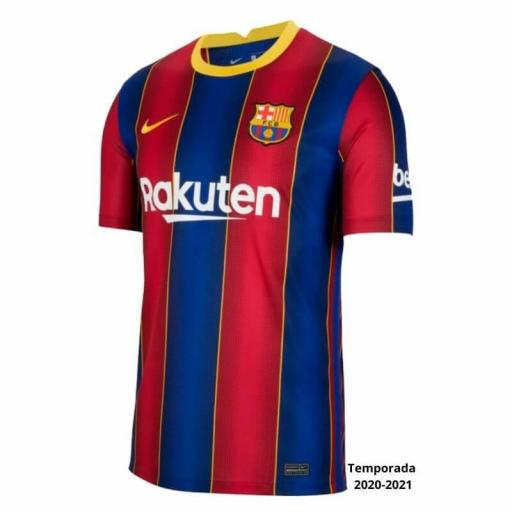 CAMISETA FC BARCELONA 1ª EQUIPACIÓN 20/21 ADULTO CD4232-456
