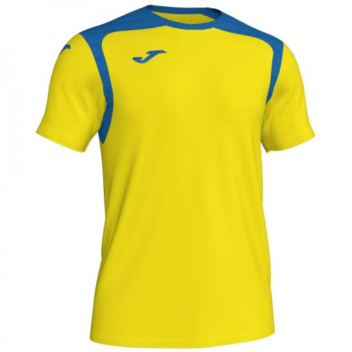 CAMISETA CHAMPION V AMARILLO - AZUL ROYAL M/C 101264.907