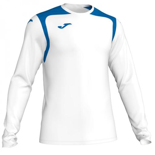 CAMISETA CHAMPION V BLANCO-ROYAL M/L 101375.207