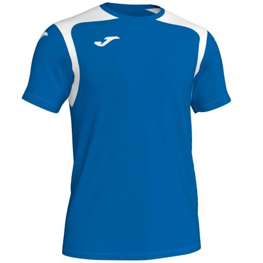 CAMISETA CHAMPION V ROYAL-BLANCO M/C 101264.702