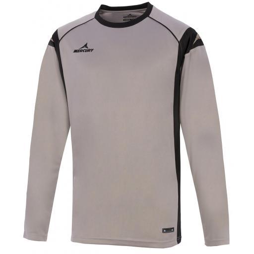 Camisa de Portero Mercury Palermo Gris / Negro MEEYAN-4403