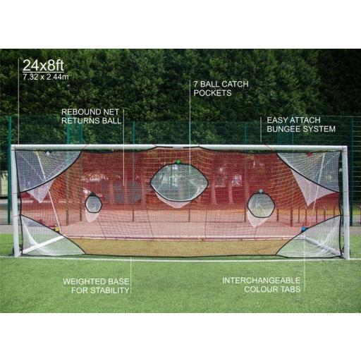 RED PRECISION DE FUTBOL 11 Fútbol Target Net 24'x8 ' QUICKPLAYSPORT [3]