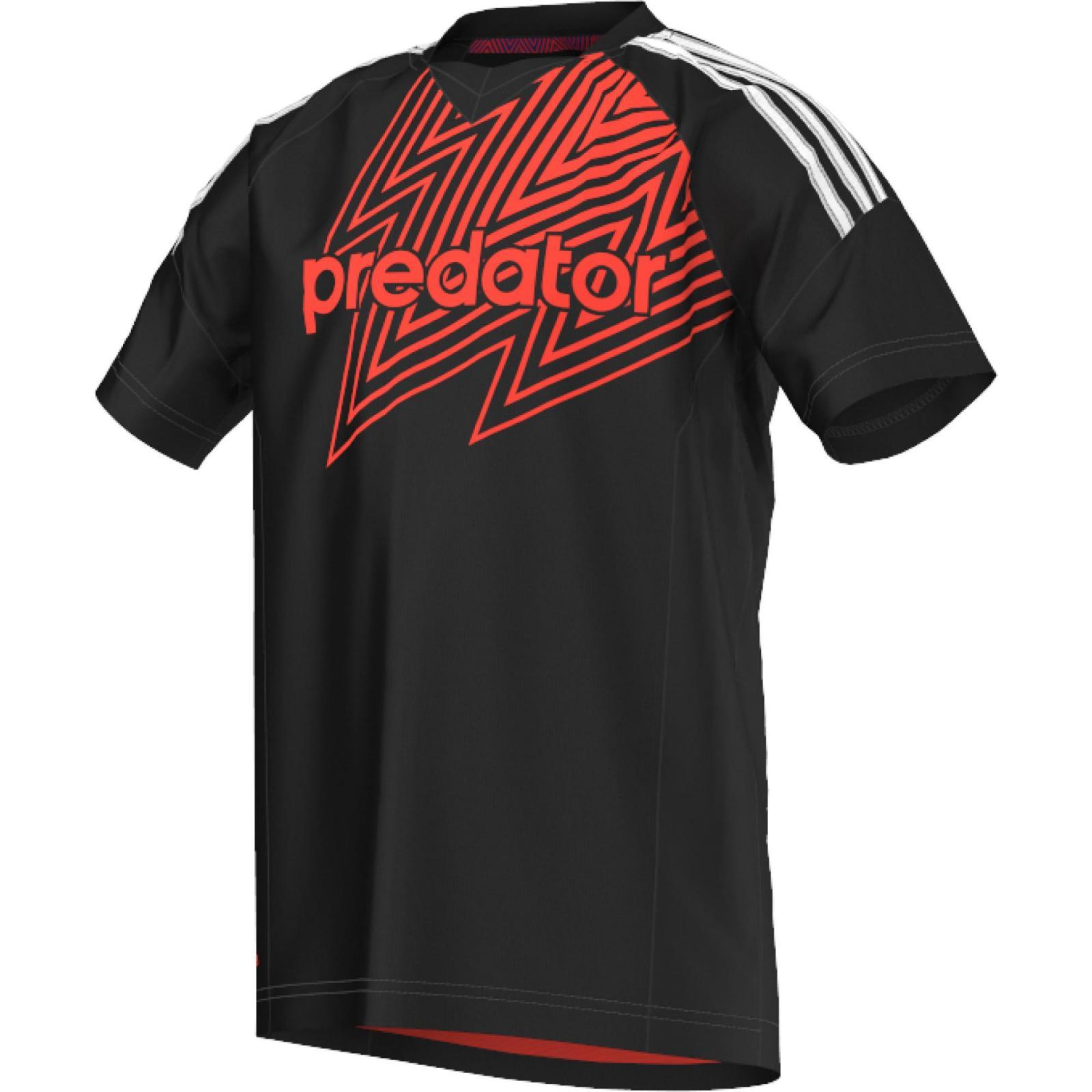 Camiseta Predator negra-roja S88062