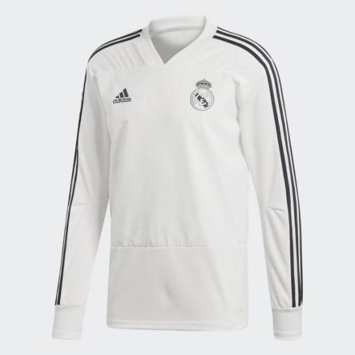 Sudadera entrenamiento del Real Madrid 2018/19 Blanca CW8664