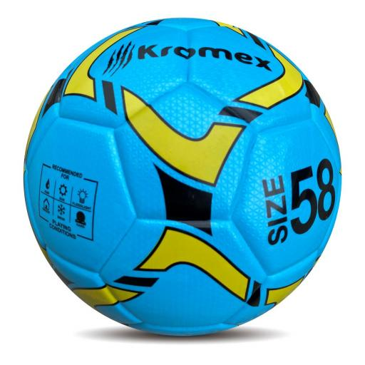 Balon Futbol Sala Kromex de 58 cm Azul