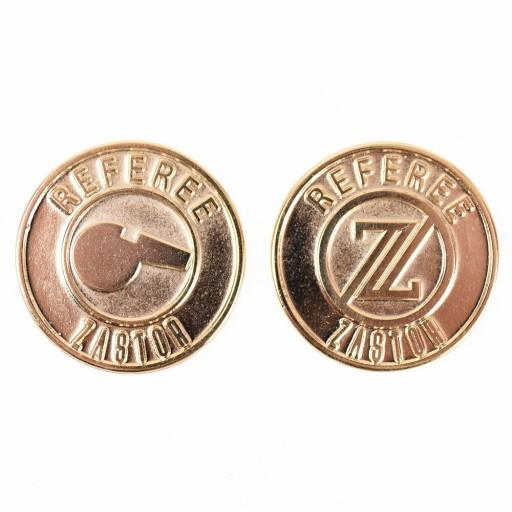 Moneda metálica sorteo campo TOSS 30mm - Pack 10 Monedas