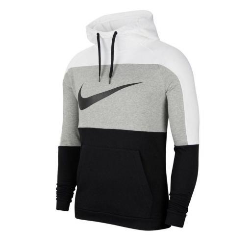 Sudadera Nike Dri-Fit Pullover Training - Blanco / Gris oscuro jaspeado / Negro CU6024-100 [0]
