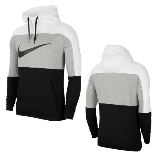 Sudadera Nike Dri-Fit Pullover Training - Blanco / Gris oscuro jaspeado / Negro CU6024-100