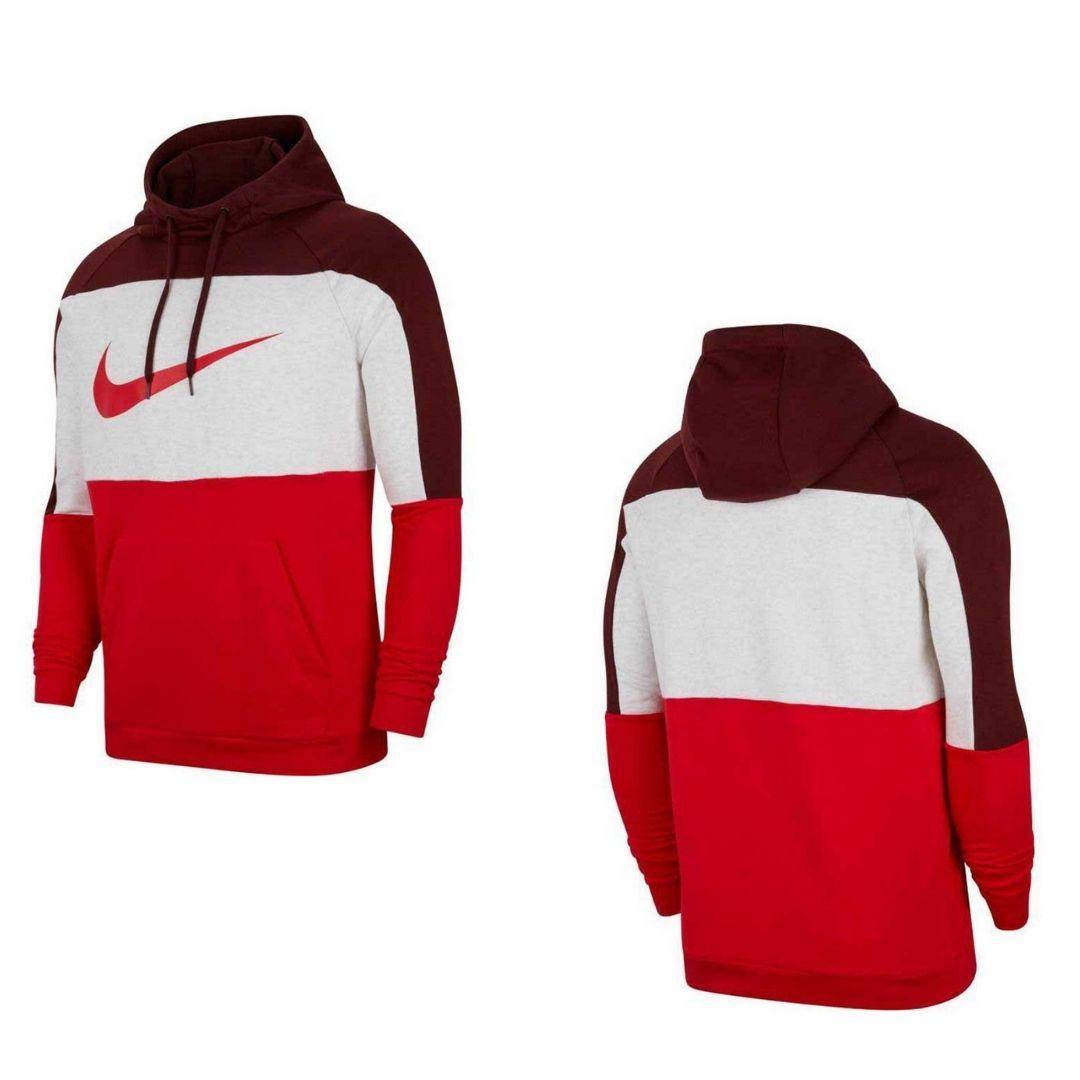Sudadera Nike Dri-Fit Pullover Training - Dátiles místicos/Abedul jaspeado/Rojo universitario/Rojo CU6024-624