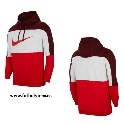 Sudadera Nike Dri-Fit Pullover Training - Dátiles místicos/Abedul jaspeado/Rojo universitario/Rojo CU6024-624 [3]