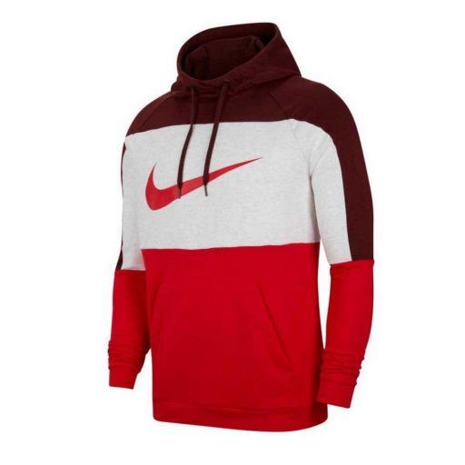 Sudadera Nike Dri-Fit Pullover Training - Dátiles místicos/Abedul jaspeado/Rojo universitario/Rojo CU6024-624 [1]