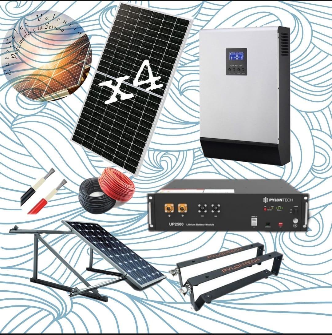 Kit solar 48v de litio con 4 paneles solares de 440w