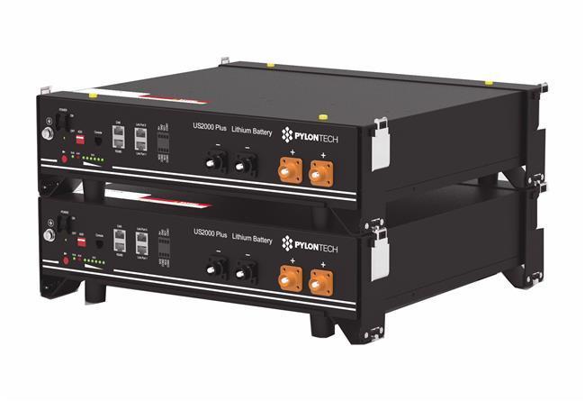 Pack  2 Baterías de Litio Pylontech 4.8 kWh 48V US2000B plus