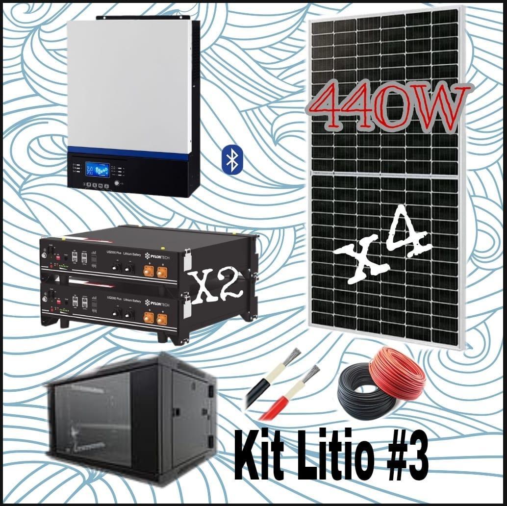 KIT SOLAR  Nº12 48V  CON 2 BATERIAS DE LITIO