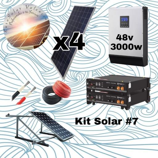 Kit solar 48v de litio con 4 paneles solares de 335w