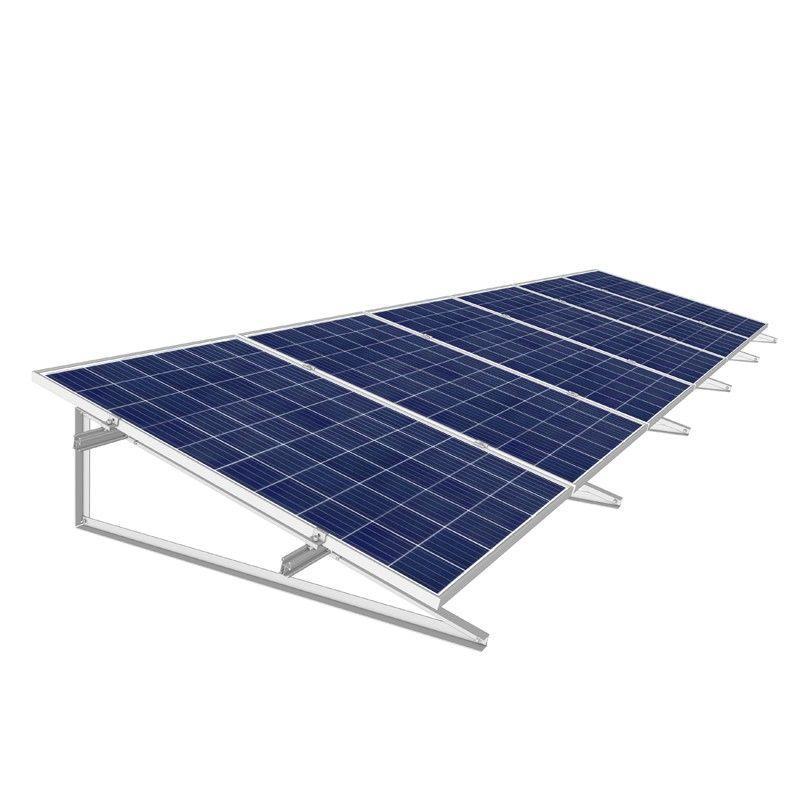 Estructura inclinada en vertical para 4 paneles solares