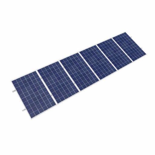 Estructura plana en vertical para 5 paneles solares