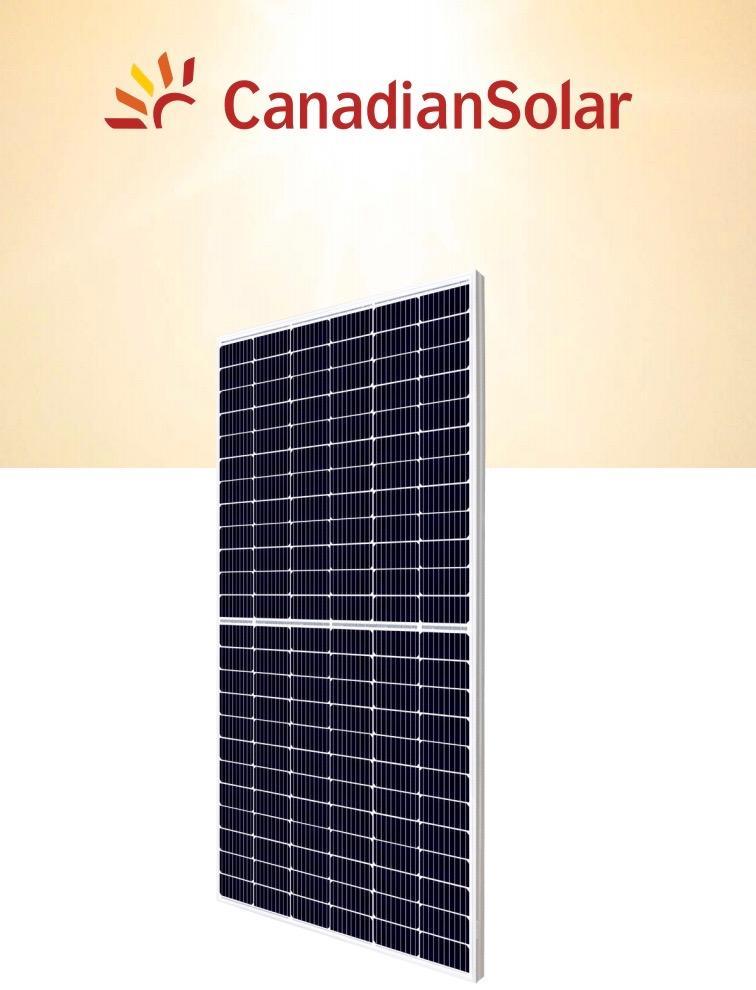 Panel solar 490w canadian solar 156 celulas