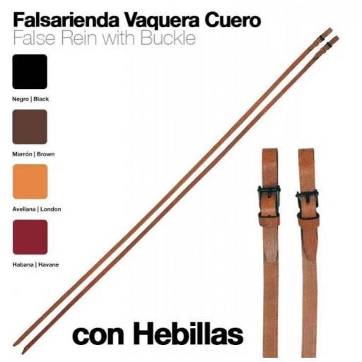 FALSARIENDA VAQUERA CUERO CON HEBILLAS