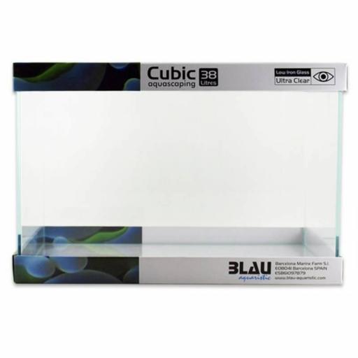 Acuario Cubic Aquascaping 38litros 45x28x30 cm