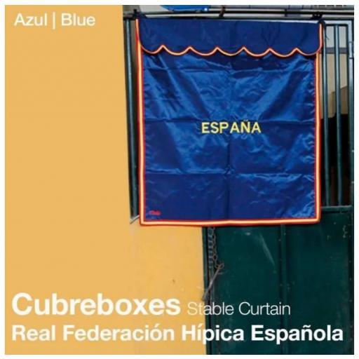 CUBREBOXES REAL FEDERACIÓN HÍPICA ESPAÑOLA AZUL