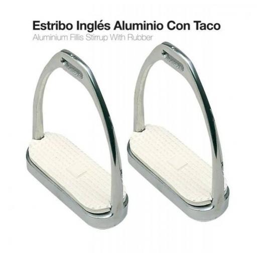 ESTRIBO INGLÉS ALUMINIO CON TACO 21108AL-46 12cm