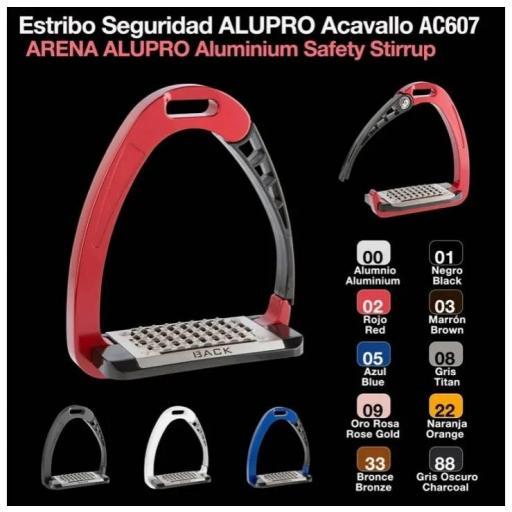 ESTRIBO SEGURIDAD ALUPRO ACAVALLO AC607