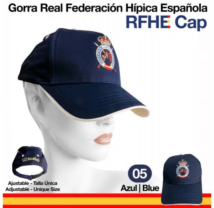 GORRA CAP REAL FEDERACIÓN HÍPICA ESPAÑOLA AZUL