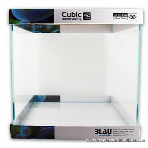 Acuario Cubic Aquascaping 42 litros (35x35x35) Blau