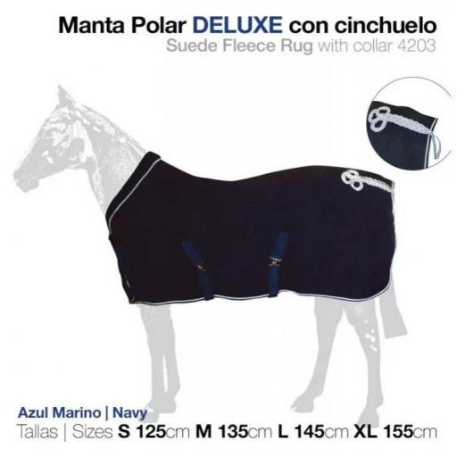MANTA POLAR DELUXE CON CINCHUELO