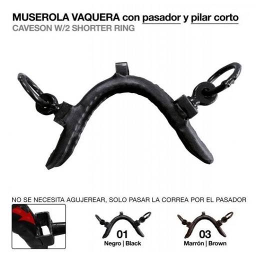 MUSEROLA VAQUERA PASADOR Y PILAR CORTO