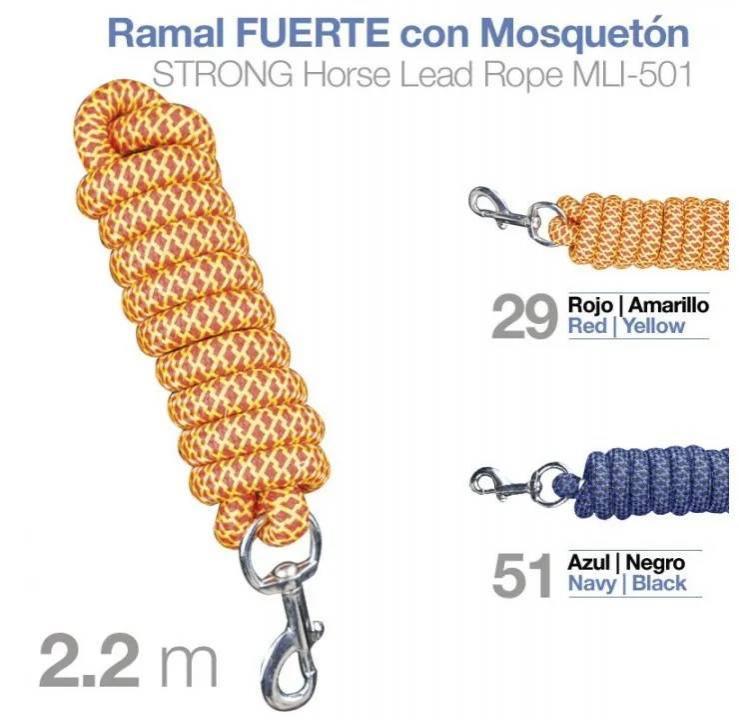 RAMAL FUERTE CON MOSQUETÓN MLI-501 2.20m