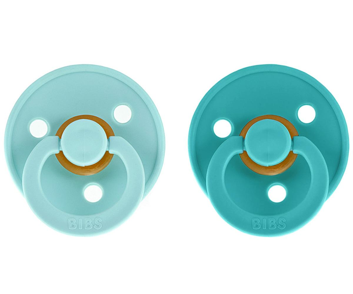 Pack 2 Chupetes BIBS Baby Mint/Turquoise