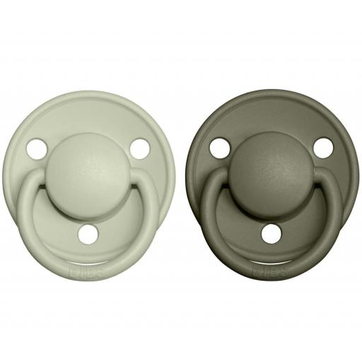 Pack 2 Chupetes BIBS De Lux Sage/Hunter Green [0]