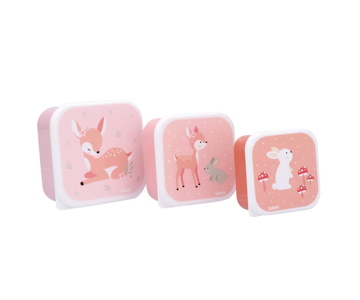 Set de 3 Cajas Almuerzo Tutete Sweet Deer