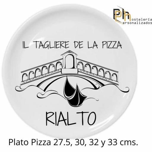 Plato de Pizza Personalizado Padua 32 cms. [2]
