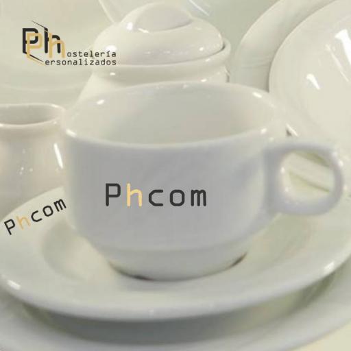 Platillo Café 14,5 cms. Personalizado a 1 color. MOD.PH7 [3]