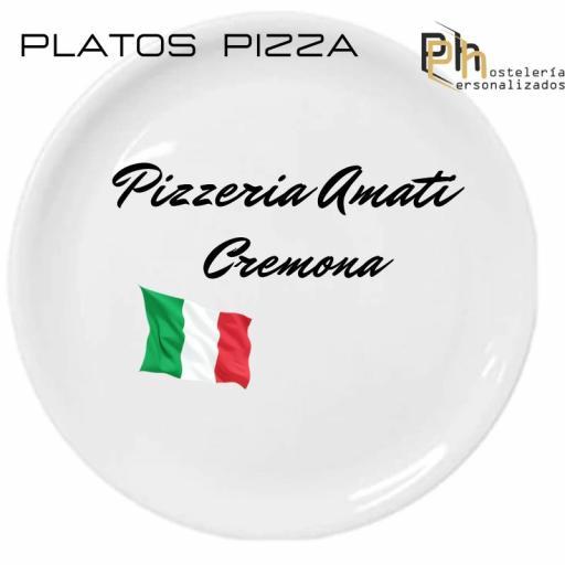 Plato de Pizza Personalizado Siena 30,5 cms. [3]