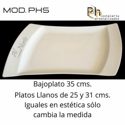 Plato llano Personalizado 25, PH5 [1]