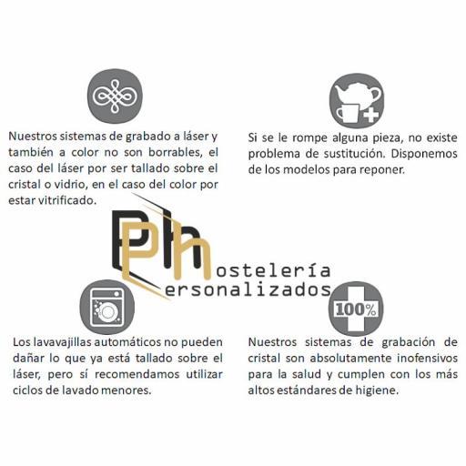 TAZA Y PLATILLO PERSONALIZADO. EASY 32 CL. GRABADA CON LOGO [2]