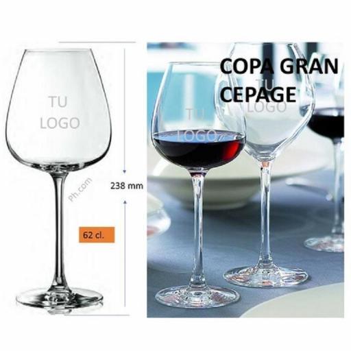 COPA GRAND CEPAGE 62 cl, GRABADA CON SU LOGO [1]